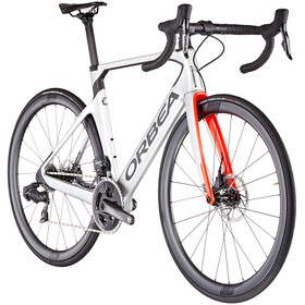 Orbea Orca Aero M21e Team, silver/bright red/carbon